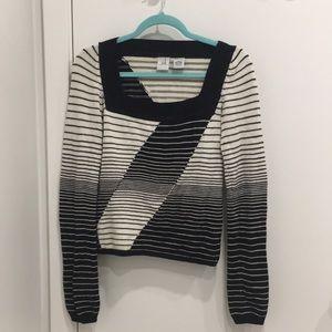 Armani Exchange Sweaters - Vintage Armani Exchange Geometric Lines Sweater